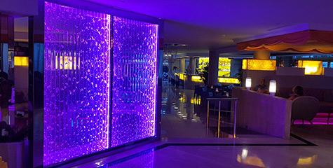 bubblewallpolimertecnic azul - Proyectos Canal Contract, Hoteles y Restaurantes
